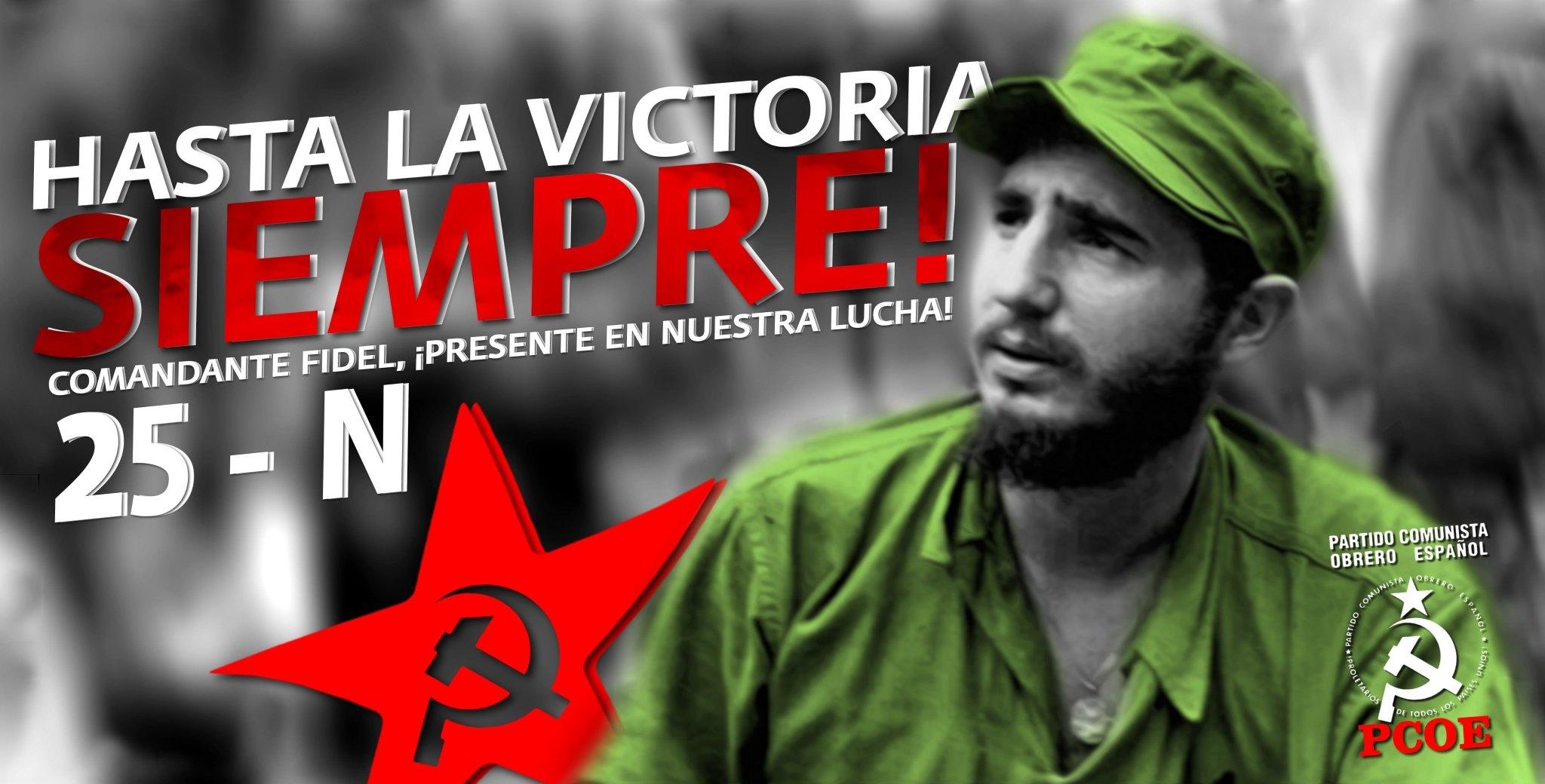 El 25 de noviembre del 2016 fallecía Fidel Castro Ruz. Hoy, justo cuando se cumple el primer aniversario de su muerte, el Partido Comunista Obrero Español honra la memoria de…