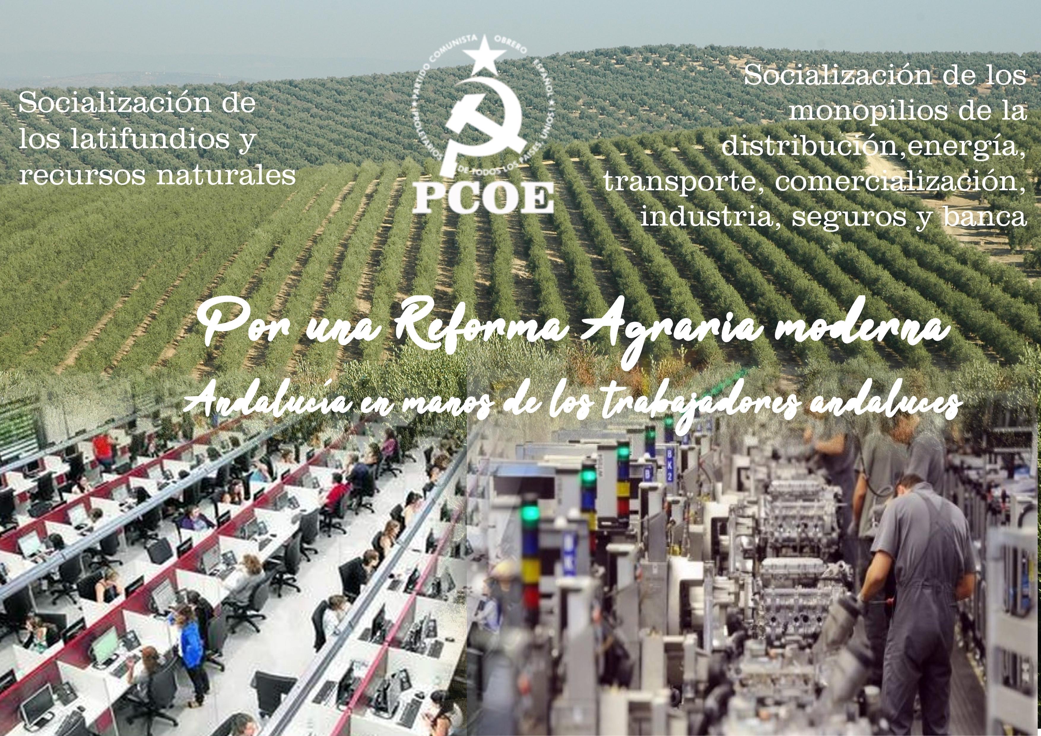 En Andalucía, exigir una Reforma Agraria que vaya más allá del reparto de tierras debe ser el centro vital sobre el que gire toda la lucha política porque una Reforma…