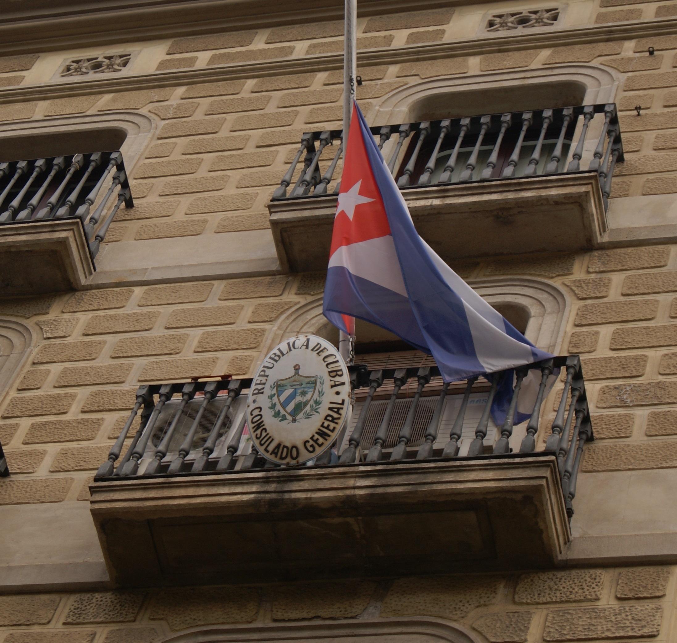 La camarada Secretària General Nuria Pocorull i el Secretari d'Organització, Israel Gabriel, del Partit Comunista Obrer de Catalunya, han acudit al Consolat de Cuba a Barcelona a l'homenatge celebrat al…