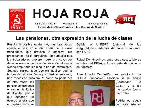 Comité Regional de Madrid del Partido Comunista Obrero Español (P.C.O.E)…