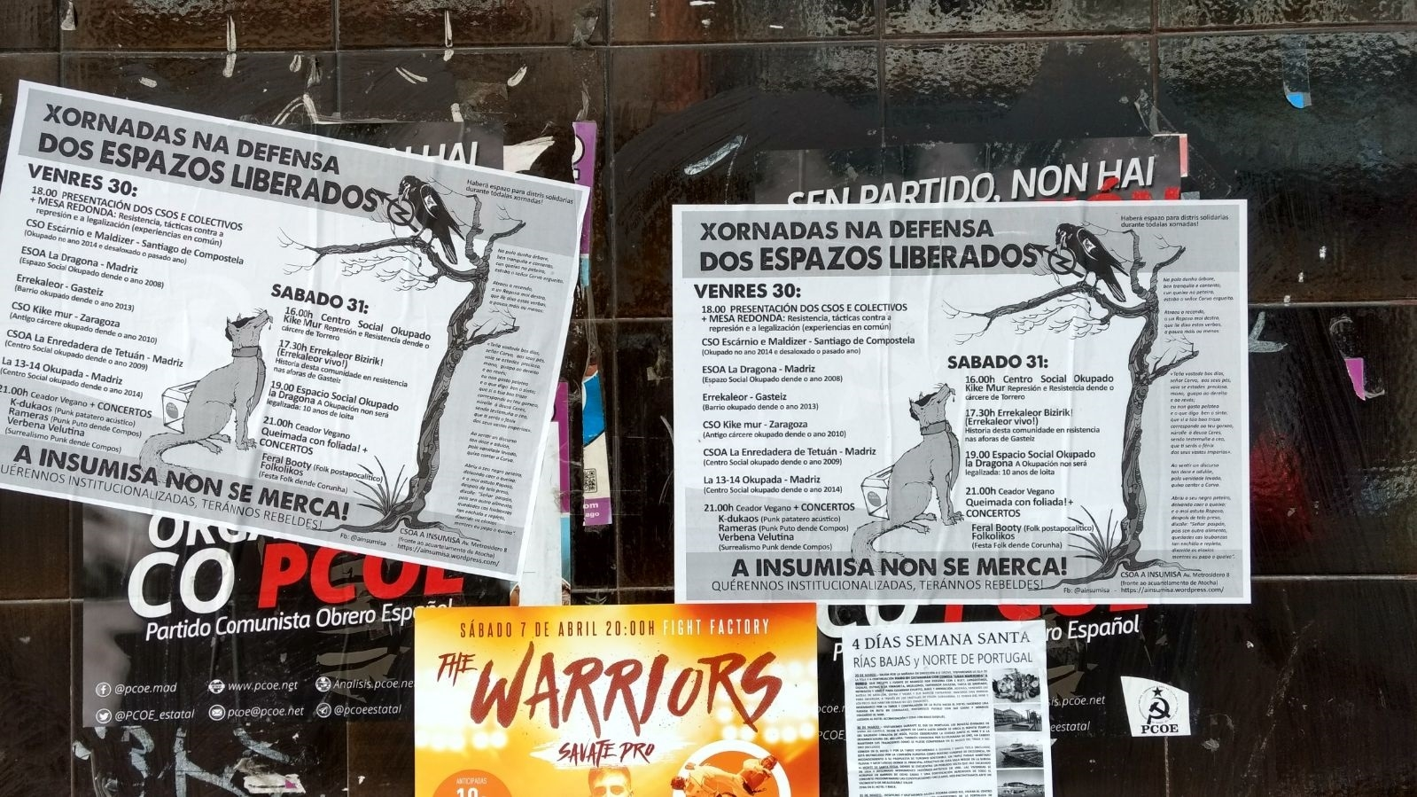 Vémonos obrigados a facer este comunicado debido a que chegou ao noso coñecemento que varios carteis de propaganda instalados polos camaradas de A Coruña na zona de Os Maios foron…