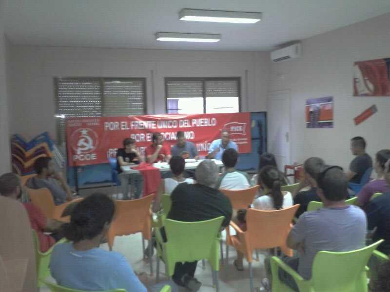 Éxito de convocatoria en el primer acto organizado por el Comité Provincial de Cordoba del Partido Comunista Obrero Español y la Federación de Jóvenes Comunistas de España en Priego de…