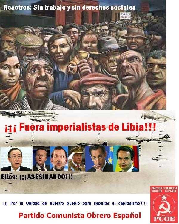 ¡¡¡ Fuera imperialistas de Libia !!!