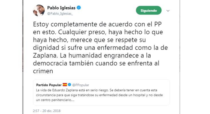 """El pasado miércoles 19 de diciembre, el Partido Popular apelaba a """"un poco de…"""